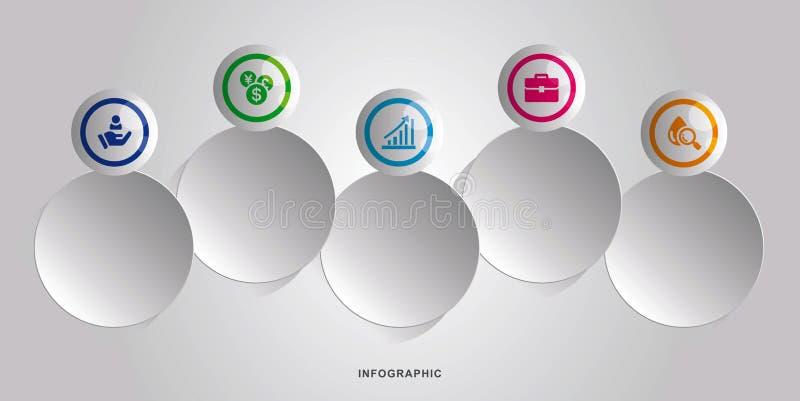 Дело Infographic Шаблон дизайна временной последовательности по infographics вектора самомоднейше также вектор иллюстрации притяж иллюстрация штока