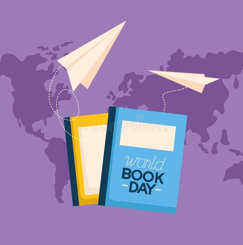 День книги мира иллюстрация вектора