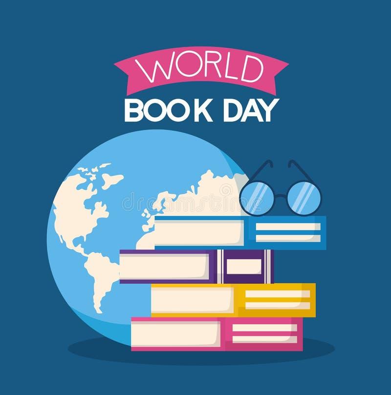 День книги мира иллюстрация штока