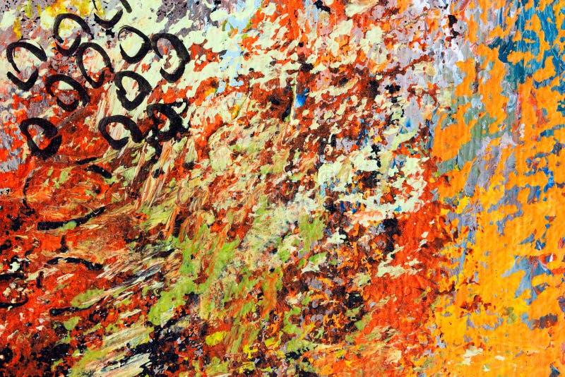 Деталь картины маслом импрессиониста на холсте стоковые изображения rf