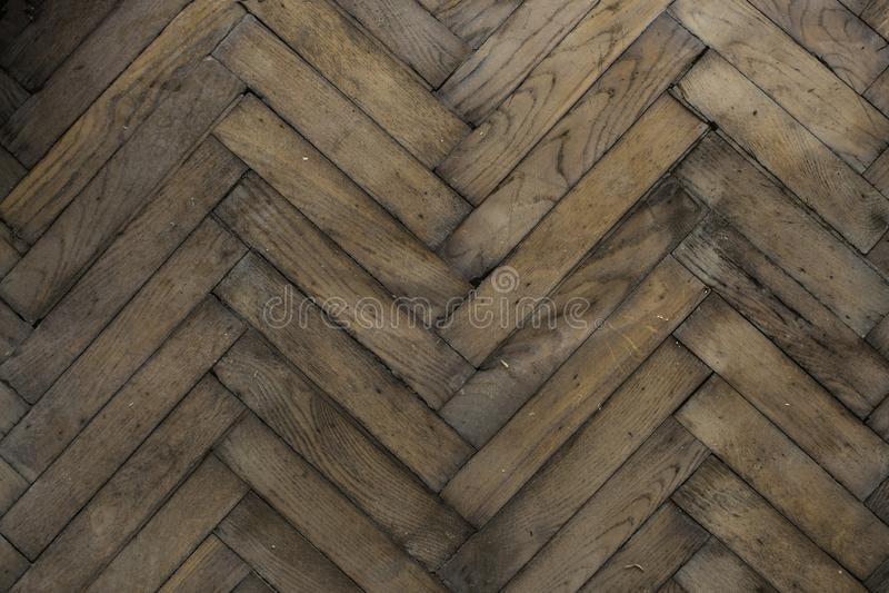 Деревянный старый пол шевронный стоковая фотография