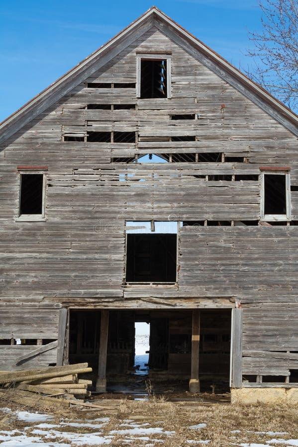 деревянное амбара старое стоковая фотография