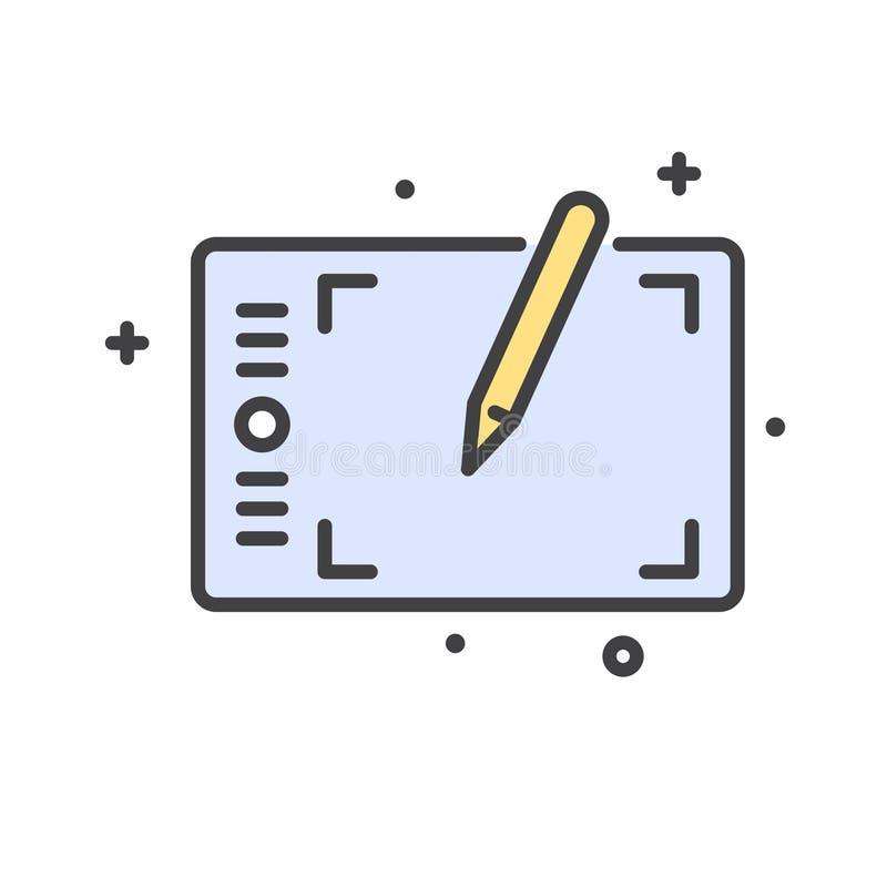 Дизайнерская линия значок инструмента на белой предпосылке для графика и веб-дизайна, современного простого знака вектора интерне бесплатная иллюстрация