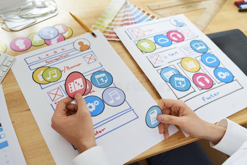 Дизайнерский выбирая значок стоковая фотография rf