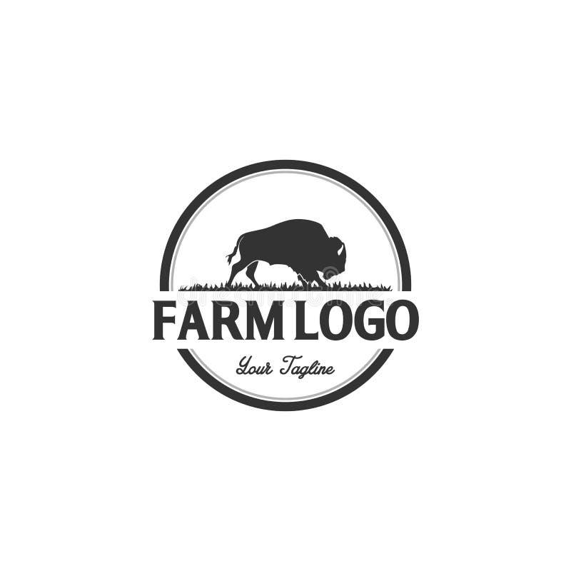 Дизайны логотипа буйвола или быков бесплатная иллюстрация