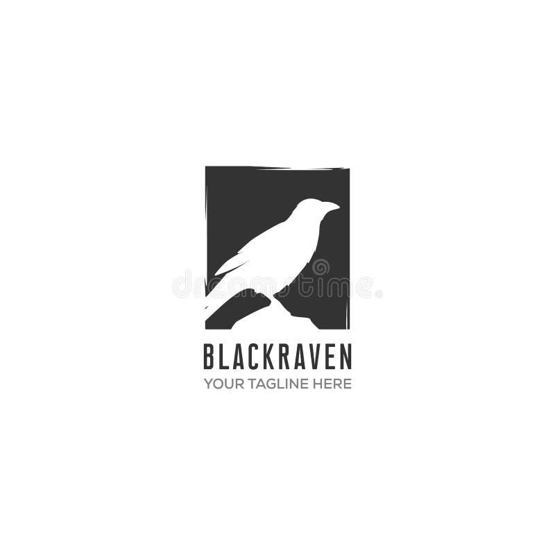 Дизайны логотипа ворона иллюстрация штока