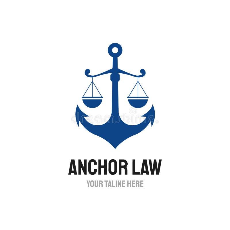 Дизайны логотипа закона анкера, зрелый логотип, винтажные дизайны логотипа бесплатная иллюстрация