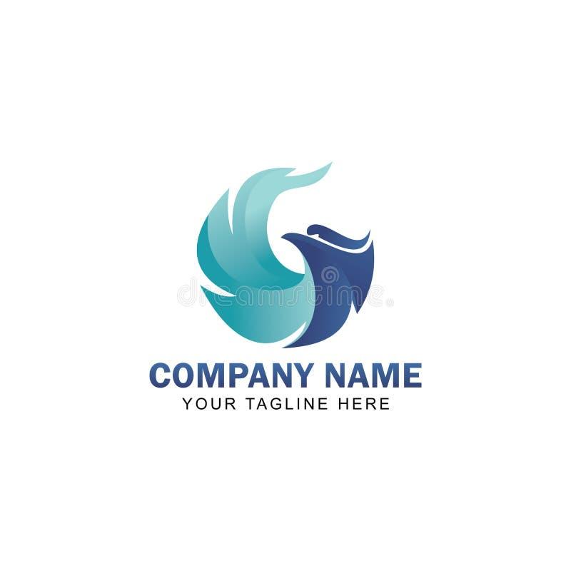 Дизайн вектора логотипа орла иллюстрация штока
