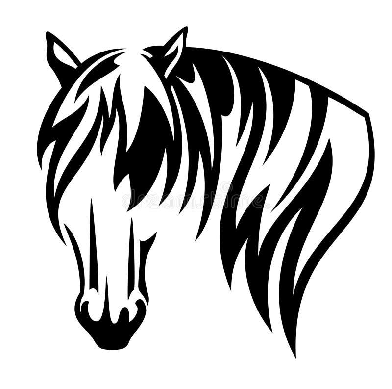 Дизайн вектора черноты лошади проекта главный иллюстрация штока