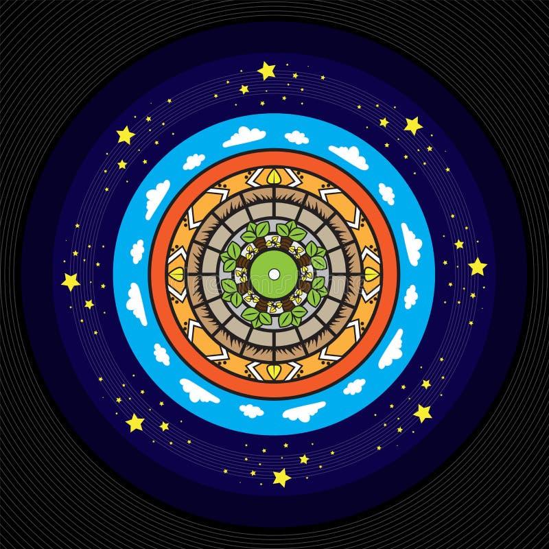 Дизайн винила Афро, абстрактная мандала стоковое изображение rf