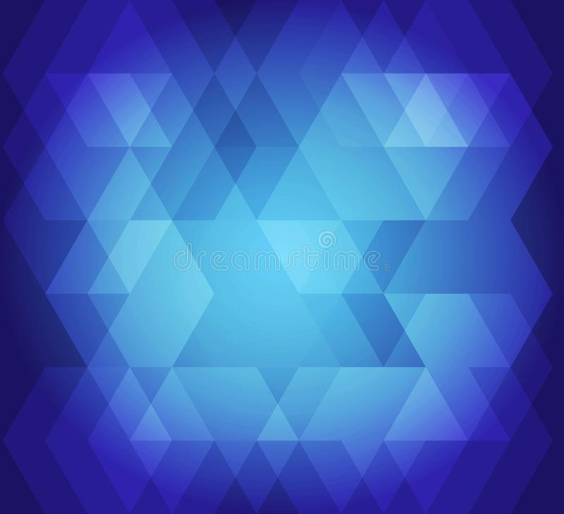 Abstract background hex pattern blue color. Vector color picture of abstract background hex pattern blue color royalty free illustration