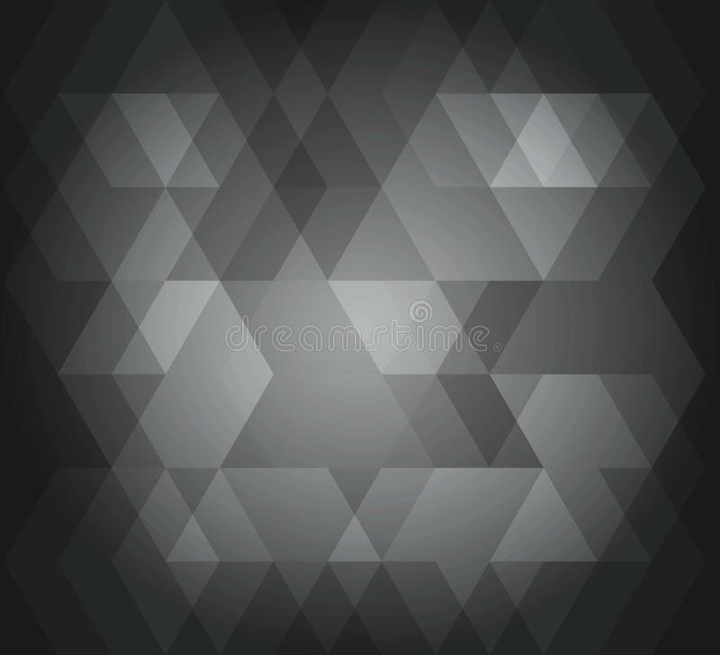 Abstract background hex pattern gray color. Vector color picture of abstract background hex pattern gray color stock illustration