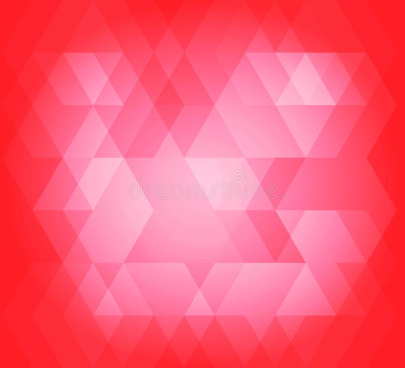 Abstract background hex pattern red color stock illustration