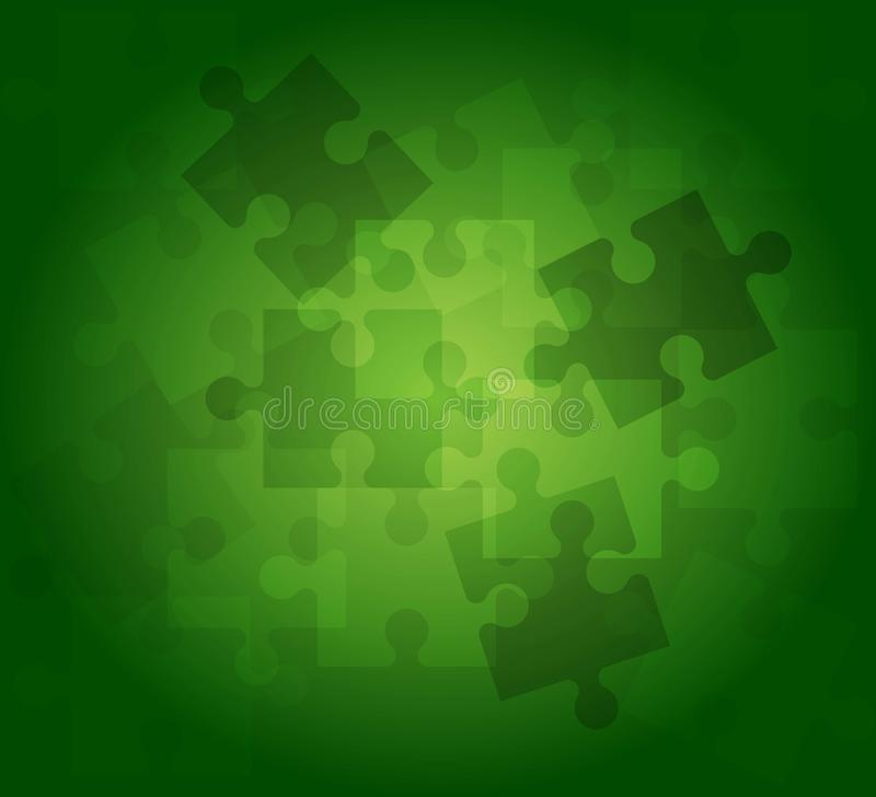 Abstract background puzzle pattern green color. Vector color picture Abstract background puzzle pattern in green color stock illustration