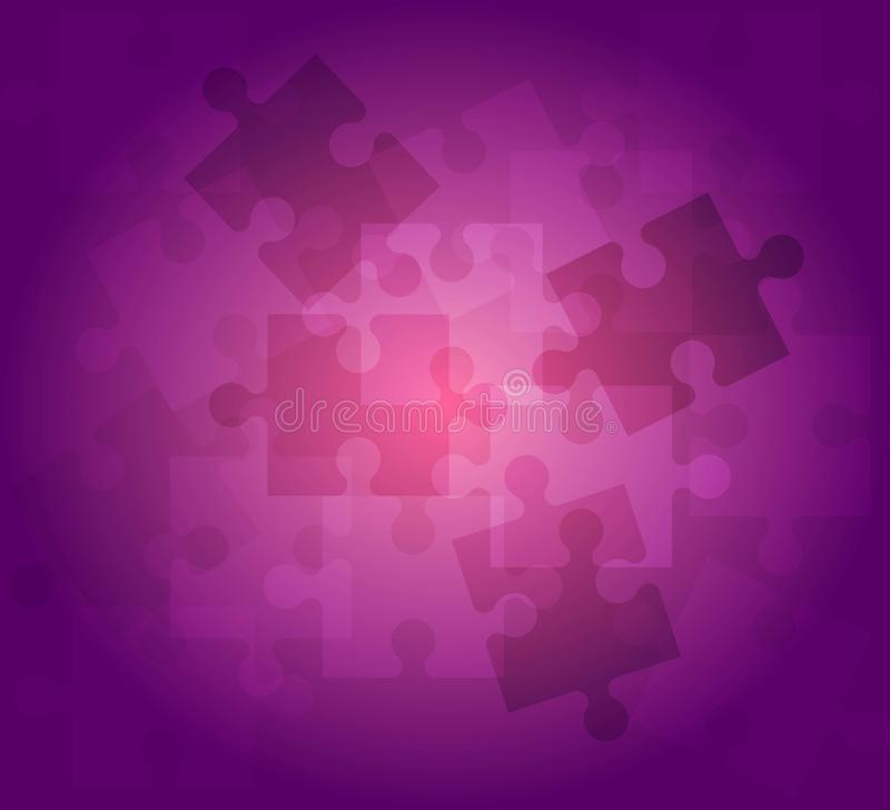 Abstract background puzzle pattern violet color royalty free illustration