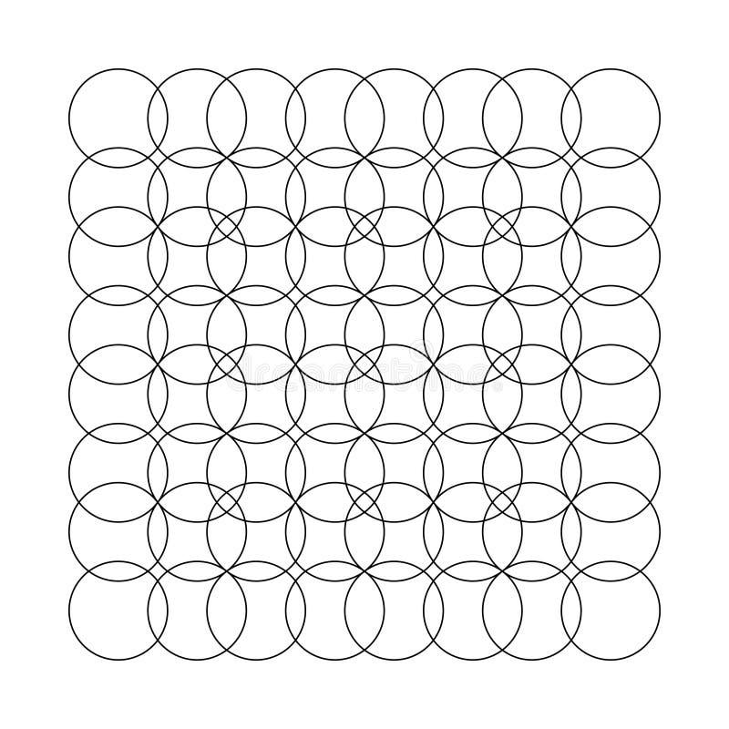 Series of circles stock illustration