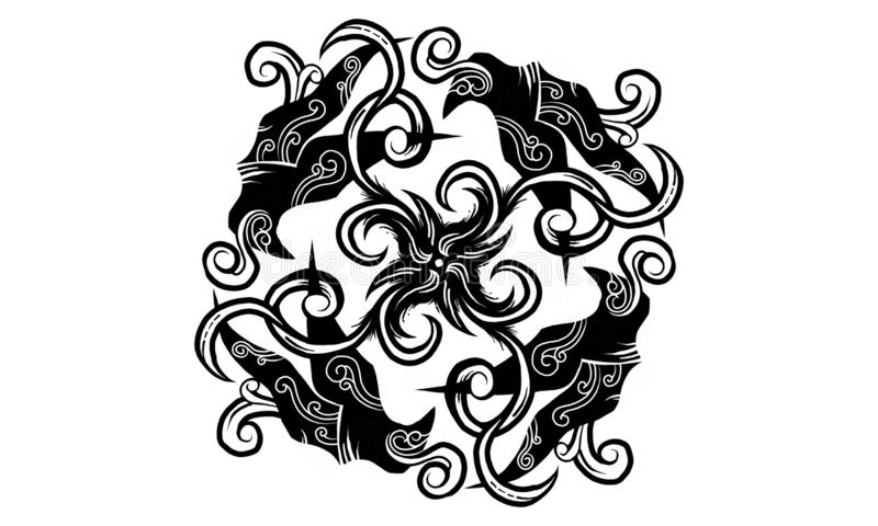 Дух сплавливания иллюстрация вектора
