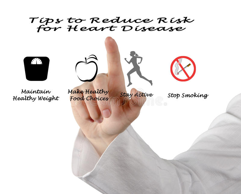 РÑ减少心脏病的风险的‰ Ñ † 免版税库存图片