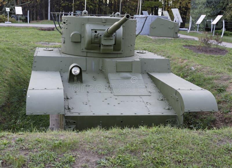 Т- 46-1-敞篷车喷火器轻型坦克(苏联), 1936年 Weig 免版税库存图片