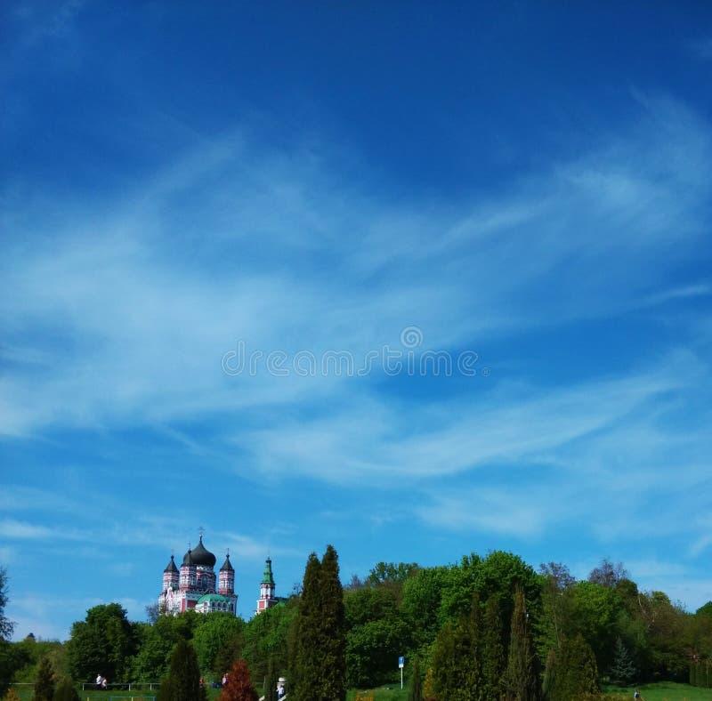 Ð-¡ hurch auf Hintergrund des Himmels ukraine lizenzfreies stockbild