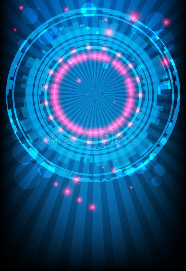 Ð'lue abstract background with glowing lights stock illustration