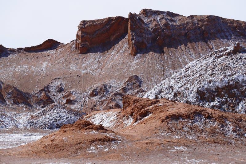 Долина луны - Ла луна Valle de, пустыня Atacama, Чили стоковая фотография rf