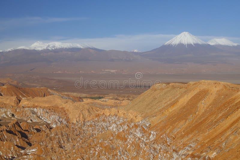 Долина Марса - Valle de Marte и Кордильеры de Ла Соль, пустыня Atacama, Чили стоковое фото