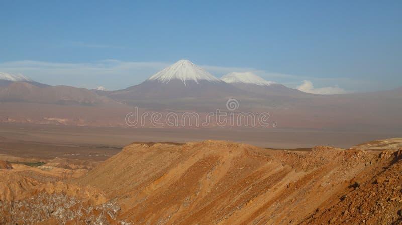 Долина Марса - Valle de Marte и Кордильеры de Ла Соль, пустыня Atacama, Чили стоковая фотография rf