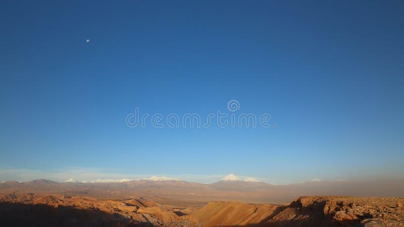 Долина Марса - Valle de Marte и Кордильеры de Ла Соль, пустыня Atacama, Чили стоковые изображения rf