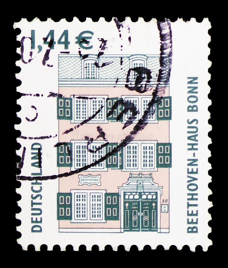 Дом Бетховен, Бонн, serie видимостей, около 2003 стоковое фото