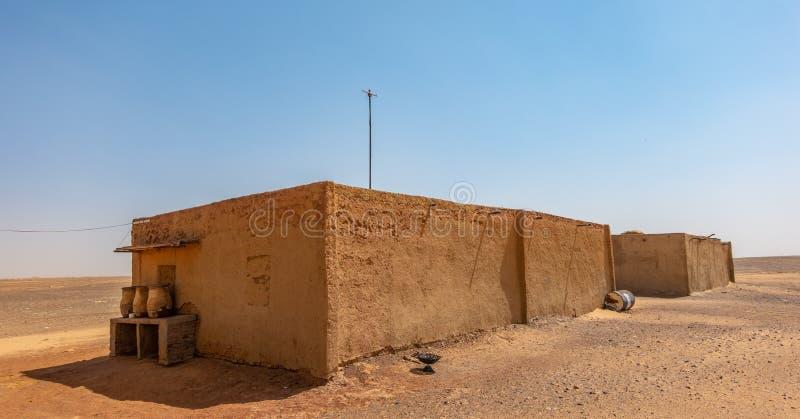Дом в nubian деревне в пустыне Судана, Африки стоковое фото