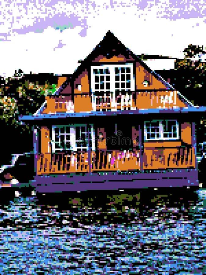 Дом пиксела 8-разрядный бесплатная иллюстрация