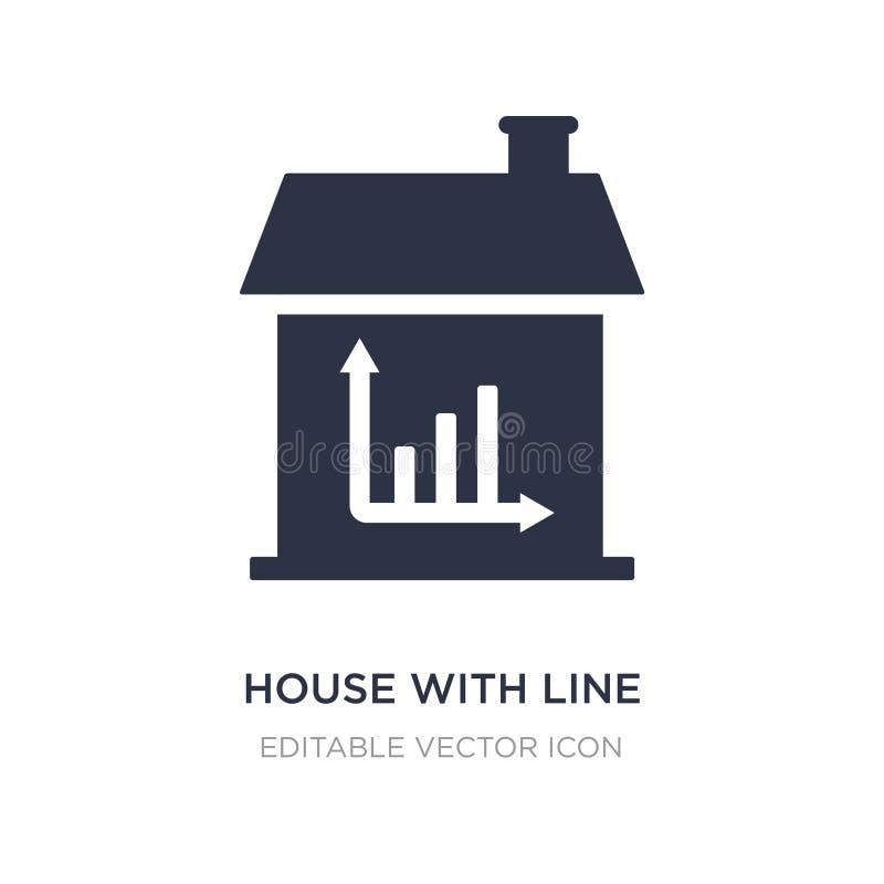 дом с линией значком диаграммы на белой предпосылке Простая иллюстрация элемента от концепции зданий бесплатная иллюстрация