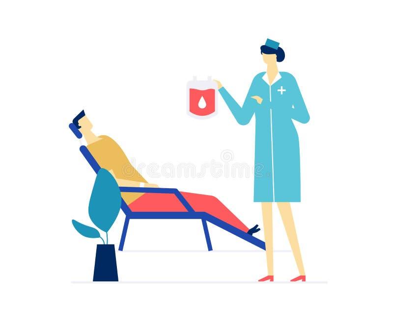Донорство крови - красочная плоская иллюстрация стиля дизайна иллюстрация штока