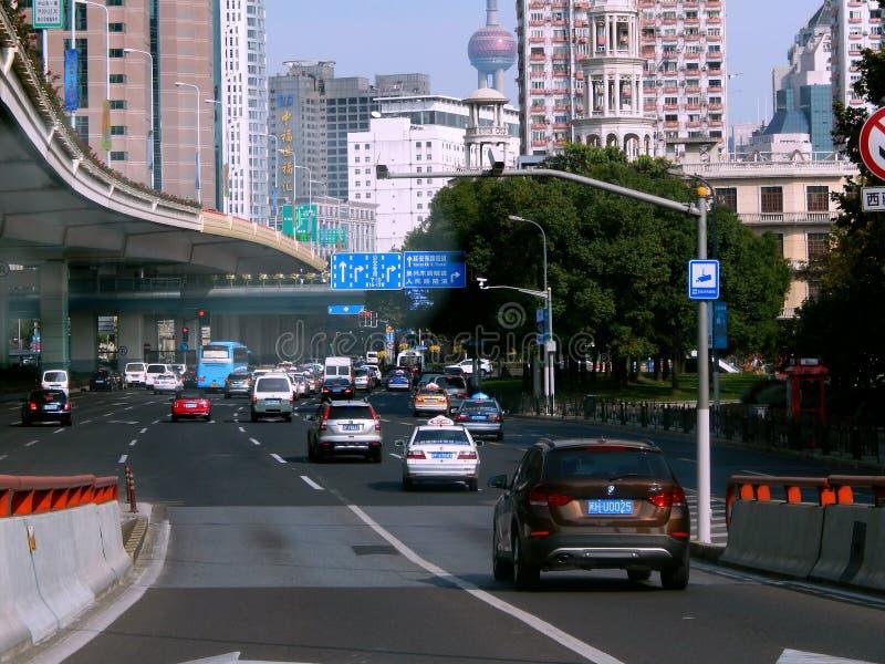 Дороги в городском Шанхае, Китае стоковое изображение