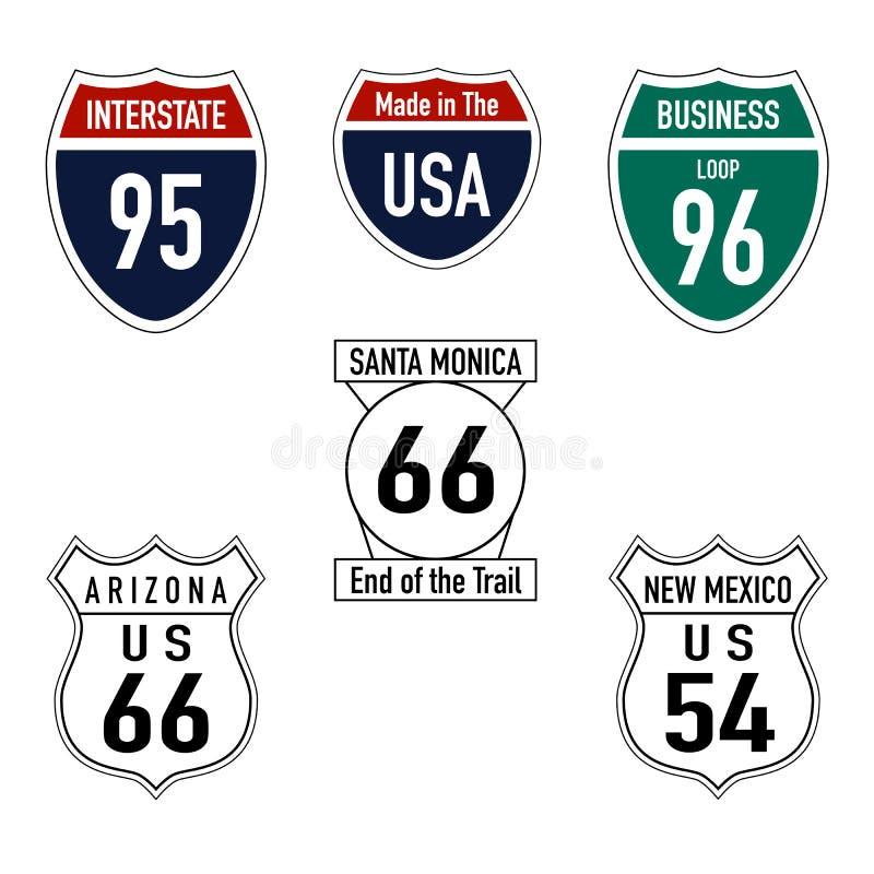 Дорожные знаки в США стоковое фото