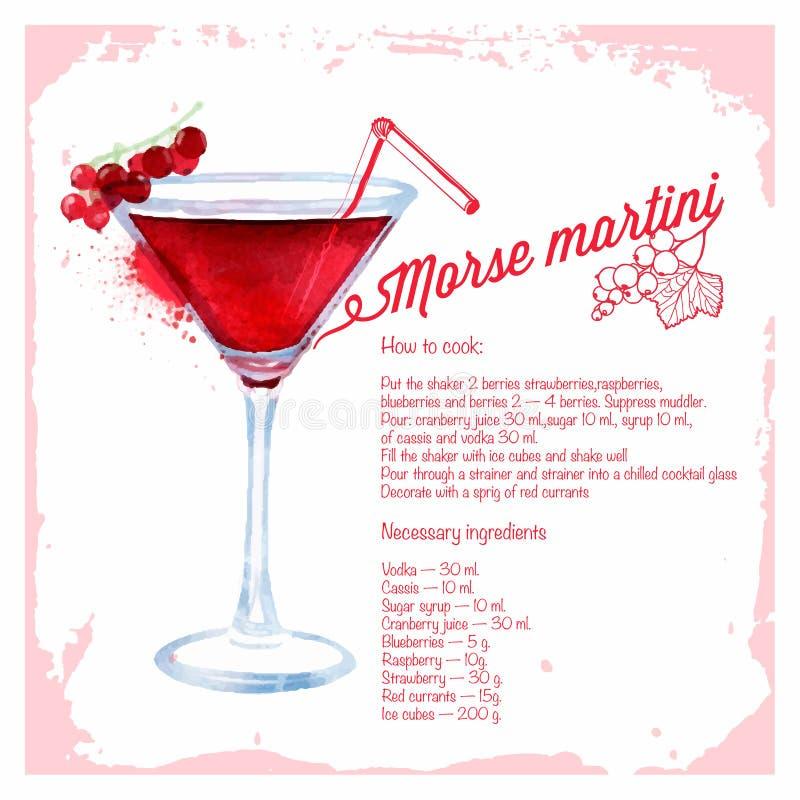 Ð-¡ ocktails morse martini royaltyfri illustrationer