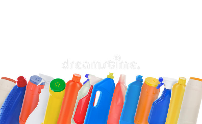 Ð ¡ ollage套塑料有益健康的瓶 库存图片