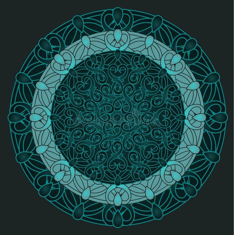 Ð ¡ olour projekta dekoracyjny element z kurenda wzorem mandala royalty ilustracja