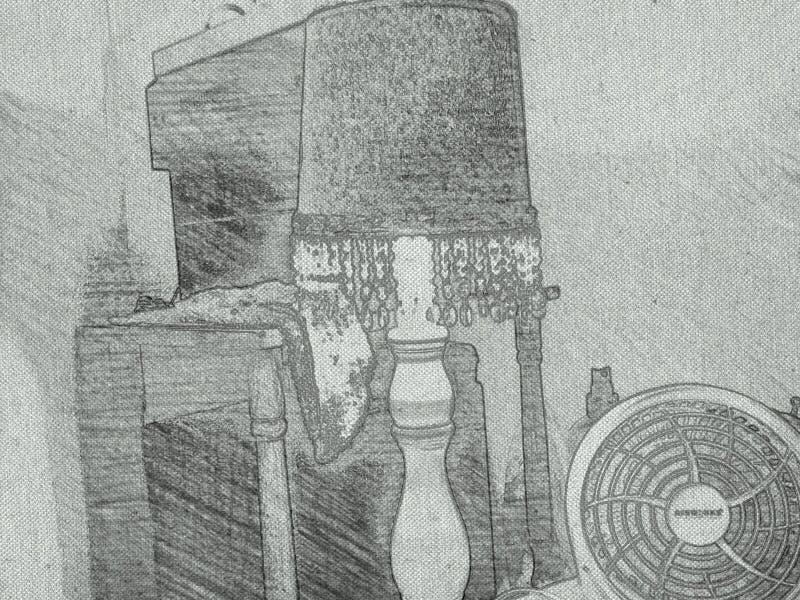 Ð'rawing auf Papier stockfotografie