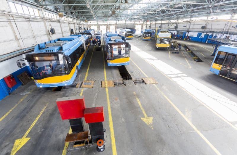 Тrolley-Depot stockfotos