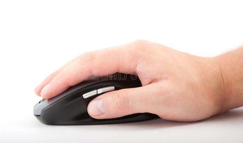 Ðand com rato do computador foto de stock royalty free