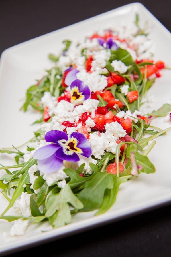 Салат плода, овоща и сыра стоковая фотография rf