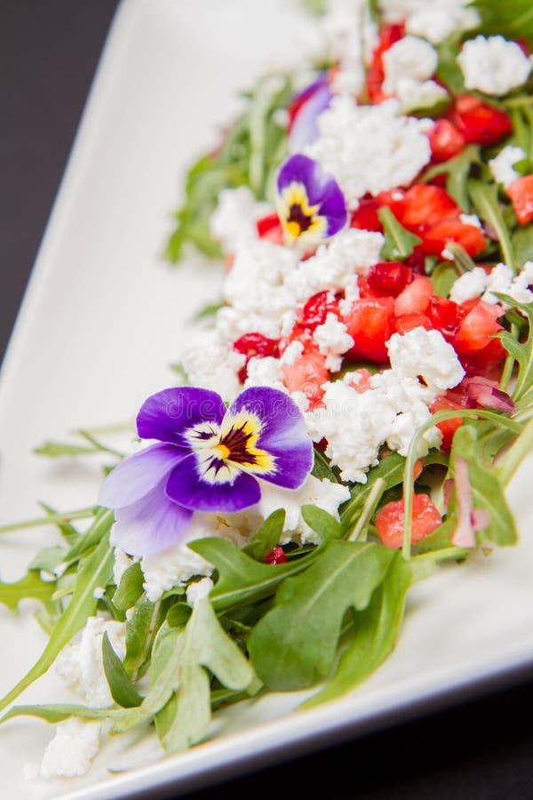 Салат плода, овоща и сыра стоковое изображение rf