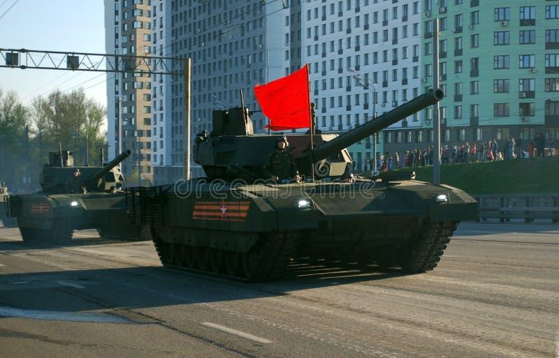 Самый новый русский главный танк Armata T-14 стоковые изображения rf