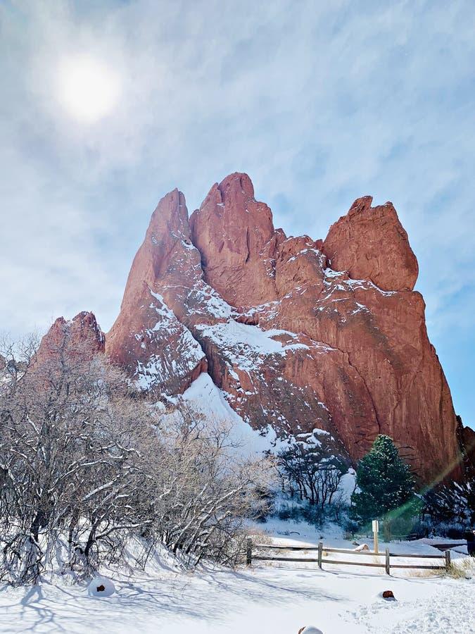 Сад богов в Колорадо-Спрингс Колорадо стоковое фото