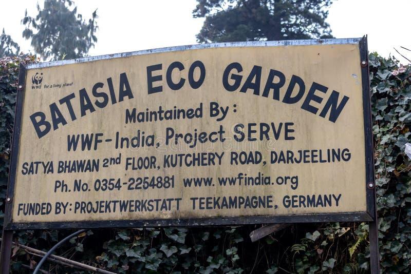 Сад марта 2018 Batasia Eco в Darjeeling, западной Бенгалии Индии Март 2018 стоковые изображения