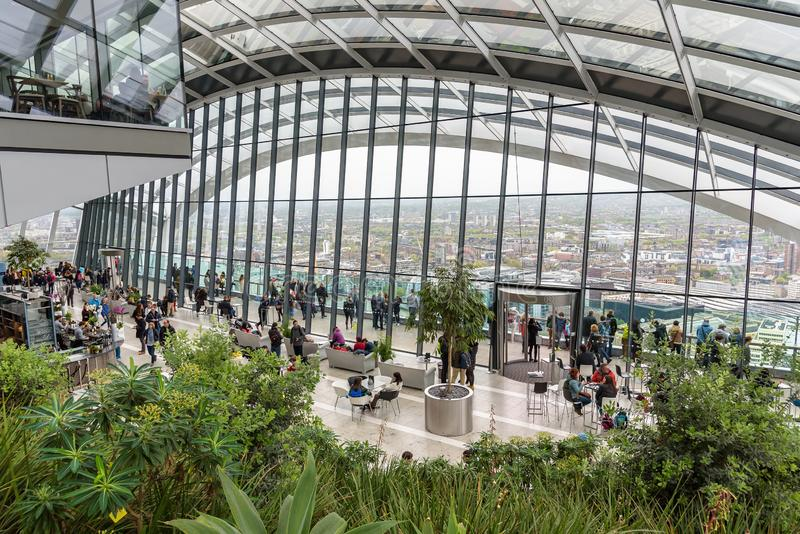 Сад неба в Лондоне стоковое изображение rf