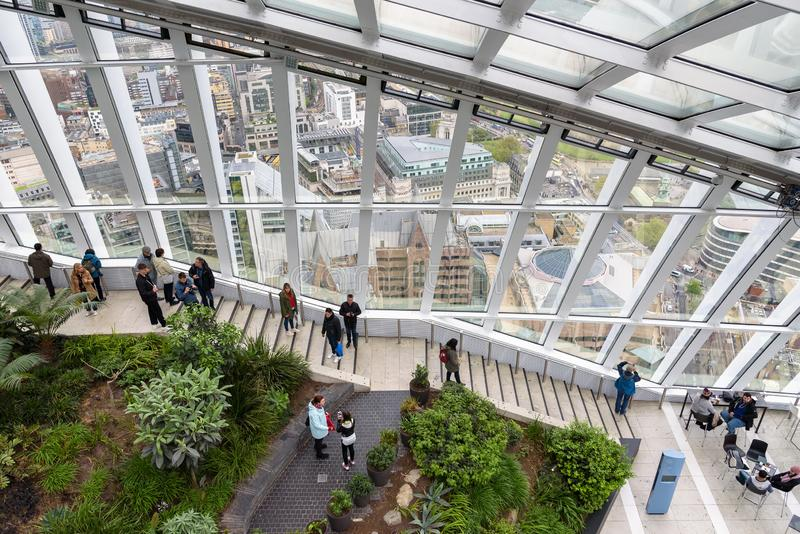 Сад неба в Лондоне стоковая фотография rf