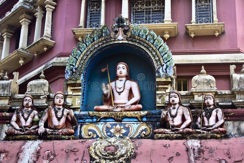 Shripada Shankaracharya with his disciples stock image